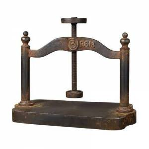 ELK Home 129-1009 Cast Iron Book Press  In Restoration Rusted