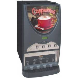 Bunn-O-Matic 38100.0050 iMIX-5S+ Top Hinge Hot Beverage System With 5 Hoppers  High efficiency LED Lighted Front Graphics  High Speed Heavy-duty Whipper  in