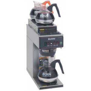 Bunn-O-Matic 12950.0356 CWT15-3  SF 12 Cup Automatic Coffee Brewer With 1 Warmer  Pourover Feature  SplashGard  in Stainless