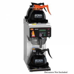 Bunn-O-Matic 38700.0080 AXIOM-DV-3 RFID BrewWISE 12 Cup Dual-Volt Coffee Brewer with 3 Warmers  Automatic Warmer Shut Off  Electronic Diagnostics and Built-in
