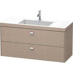 """Duravit Brioso Collection BR4608N1075 47.25"""" Wall Mounted Vanity with Two Drawers Includes C-Bonded Wash Basin without Faucet Hole in"""