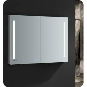"""Fresca FMC014836 Tiempo 48"""" Wide x 36"""" Tall Bathroom Medicine Cabinet with LED Lighting and Defogger  in"""