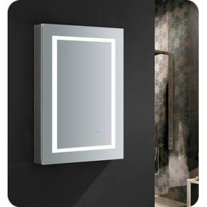 """Fresca FMC022436-L Spazio 24"""" Wide x 36"""" Tall Bathroom Medicine Cabinet with LED Lighting and Defogger  in"""