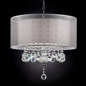 "Furniture of America Lila L9149H 19""H Ceiling Lamp with Traditional  Mounting Kit Not Included  Double Shade  Height: 19"" in"