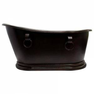 """Barclay COTSN66RB-MF Lilith 66"""" Ped Slipper Tub Copper  Mexican Finish IN and"""