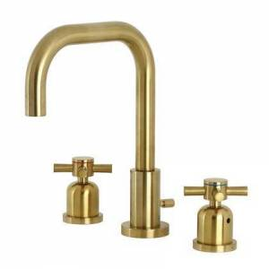 Kingston FSC8933DX Kingston Brass Concord Widespread Bathroom Faucet with Brass Pop-Up  Brushed
