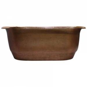 """Barclay COTDRN66C-SAP Rochelle 66"""" Freestanding Tub AC Copper Ext and Polished"""