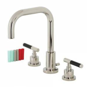 Kingston FSC8939CKL Fauceture Kaiser Widespread Bathroom Faucet with Brass Pop-Up  Polished