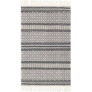 """Surya Farmhouse Tassels FTS-2300 5' x 7'6"""" Rectangle Cottage Rug in Charcoal"""