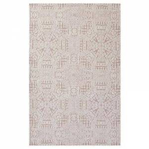 Modway Javiera Collection R-1018B-58 Contemporary Moroccan 5x8 Area Rug in Ivory and Cameo Rose