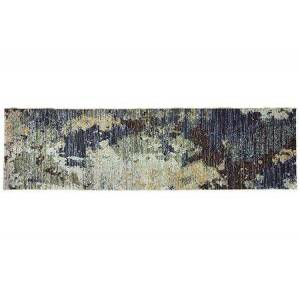 "Oriental Weavers E8049B067253ST Evolution 2' 3"" x  8' 0"" Contemporary Rug with Nylon and Polypropylene  in Navy and"