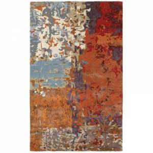 Oriental Weavers G21904305396ST Galaxy Hand Tufted Wool and Viscose Contemporary/Contemporary Rug 10.0 x 13.0 feet in Multi/Orange