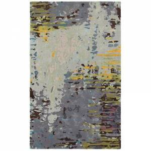 Oriental Weavers G21907305396ST Galaxy Hand Tufted Wool and Viscose Contemporary/Contemporary Rug 10.0 x 13.0 feet in Multi/Grey