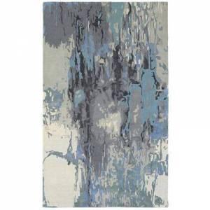 Oriental Weavers G21906305396ST Galaxy Hand Tufted Wool and Viscose Contemporary/Contemporary Rug 10.0 x 13.0 feet in Blue/Grey