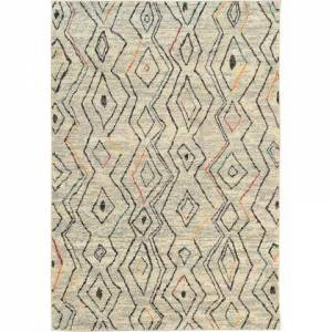 Oriental Weavers N2162W120180ST Nomad Power Loomed Polypropylene Contemporary/Casual Rug 4 x 5.9 feet in Ivory/Multi