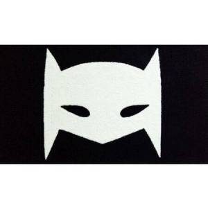 The Rug Market 74162B 2.8 x 4.8 ft. Super Hero Mask Area Rug  in Black and