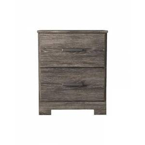 """Ashley Ralinksi Collection B2587-92 22"""" Nightstand with Two Storage Drawers  Metal Handle and Casual Style Design in"""