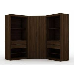 Manhattan Comfort Mulberry Collection 118GMC5 Wardrobe/ Armoire/ Closet with 8 Adjustable Shelves  4 Drawers  2 Doors  Contemporary Modern Style  Medium-Density