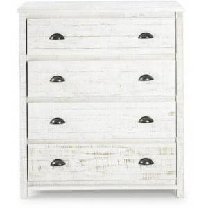 Bolton Furniture Rustic Collection AJRU02RW 4-Drawer Wood Chest of Drawers