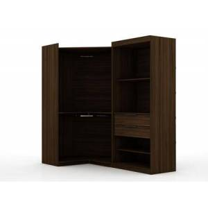 Manhattan Comfort Mulberry Collection 110GMC5 Wardrobe/ Armoire/ Closet with 4 Adjustable Shelves  2 Drawers    Contemporary Modern Style  Medium-Density Fiberboard