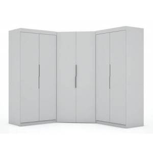 Manhattan Comfort Mulberry Collection 119GMC1 Wardrobe/ Armoire/ Closet with 8 Adjustable Shelves  4 Drawers  6 Doors  Contemporary Modern Style  Medium-Density