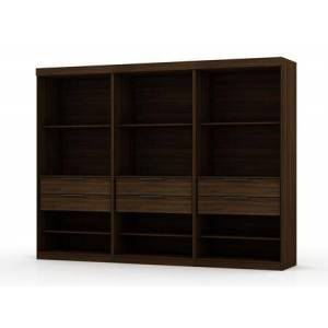 Manhattan Comfort Mulberry Collection 113GMC5 Wardrobe/ Armoire/ Closet with 12 Adjustable Shelves  6 Drawers    Contemporary Modern Style  Medium-Density Fiberboard