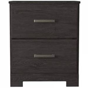 """Ashley Belachime Collection B2589-92 20"""" Nightstand with Two Storage Drawers  Casual Style Design and Metal Handle in"""