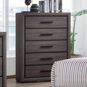 """Furniture of America Conwy CM7549C 35"""" Chest with 5 Drawers  Metal Simple Pulls and Wood Construction in"""
