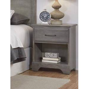 """Carolina Furniture Vintage Collection 532100 22"""" Nightstand with 1 Drawer  Bottom Shelf and Solid Wood Frame in Vintage"""