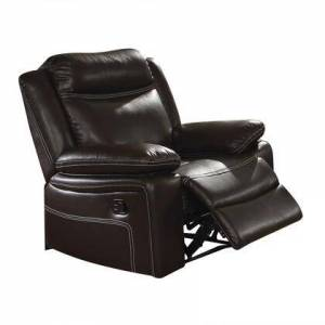 """Acme Furniture Corra Collection 52052 38"""" Recliner with External Latch Handle  Pocket Coil Seating  Pillow Top Arms  Tight Cushion  Wood Frame and Bycast PU Leather"""