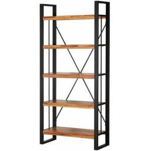 """New Pacific Direct 8000056 Zachary Collection 36"""" Bookcase with Wood Construction  Powder Coat Steel Frame and 5 Open Shelves  in"""