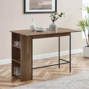 """Walker Edison TW48LNDLRO 48"""" Counter Height Drop Leaf Table with Storage in Reclaimed"""