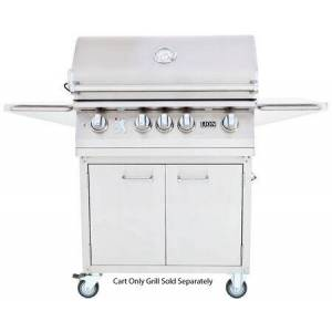 Lion 53621 L75000 Grill Cart with Bottle Opener  Paper Towel Rack  and 2 Storage Drawers: Stainless Steel (Grill Sold