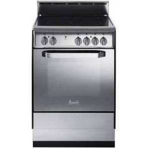 """Avanti DER242BS 24"""" Elite Series Freestanding Electric Range with 4 Radiant Plates  Splashguard  Bake and Broil Oven  Storage Drawer  and 2 Oven Racks in"""