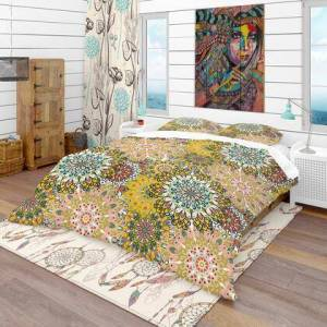 Design Art BED18607-K Designart 'Mandala Pattern For Printing On Fabric Or Paper' Bohemian & Eclectic Duvet Cover