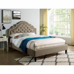 Furniture of America CM7537GY-EK-BED Aubree E.King Bed  in