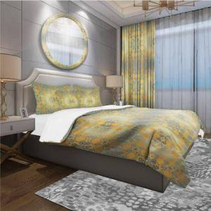 Design Art BED18625-K Designart 'Glam Flowers Decorative' Glam Duvet Cover