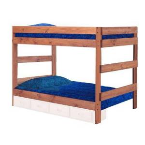 Chelsea Home Furniture 312010-411 Full Over Full One Piece Bunk Bed Mahogany