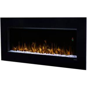 "Dimplex Nicole Series DWF3651B 43"" Glass Front Wall-Mounted Electric Fireplace with Color Rich LED Flame  Sparkling Ember Bed  Supplemental Heat and"