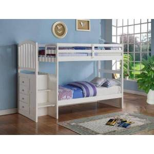 Donco 840-TTW Arch Mission Stairway Bunkbed in