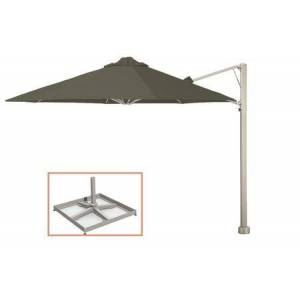 """Shadowspec SU7 Series KITP7SQ25PBTPE (A) Rotating 8'2""""/2.5m Square Cantilever Umbrella with Portable Base Fixing in"""