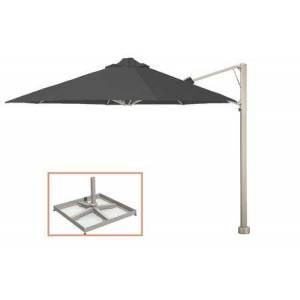 """Shadowspec SU7 Series KITP7SQ25PBCHA (A) Rotating 8'2""""/2.5m Square Cantilever Umbrella with Portable Base Fixing in"""