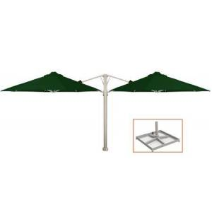 """Shadowspec KITP6SQ25DUOPBOGRN (A) SU6 Duo 8'2""""/2.5m Square Umbrella with Portable Base Fixing in Olive"""
