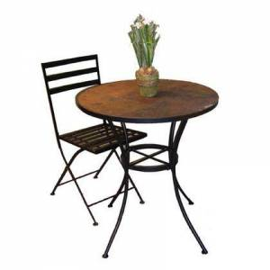 4D Concepts 601611 Stone Collection Round Table with Slate