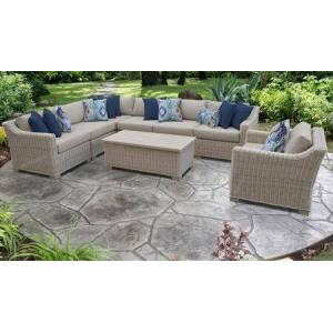 TK Classics Coast Collection COAST-08d 8-Piece Patio Set 08d with 1 Corner Chair   3 Armless Chair   1 Storage Coffee Table   1 Club Chair   1 Left Arm Chair   1