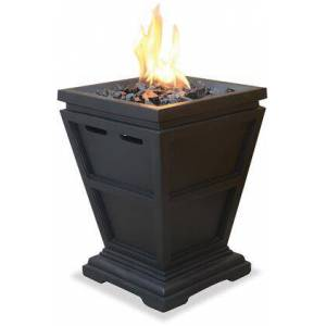 Endless Summer GLT1343SP LP Gas Outdoor Fire Small Column with 10 000 BTU Stainless Steel Burner  Decorative Slate Finish  Simulated Stone Construction  Integrated