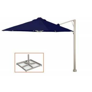 """Shadowspec SU7 Series KITP7SQ25PBBLU (A) Rotating 8'2""""/2.5m Square Cantilever Umbrella with Portable Base Fixing in Midnight"""