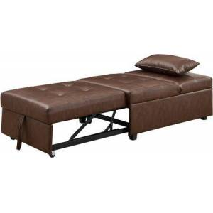 Powell D1099S17BP Boone Sofa Bed  Brown Faux