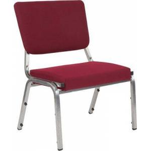Flash Furniture Hercules Collection XU-DG-60442-660-2-BY-GG Medical Reception Chair with 3/4 Panel Back  Foam Padded Seat  Silver Vein Powder Coated Frame and