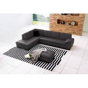 "J and M Furniture 625 Collection 1754431131-LHFC 124"" Leather Sectional Left  Facing Sofa  Seats and Backs Have High-Density Foam to Give You Extra Comfort and Support"